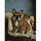 Картины и панно handmade. Livemaster - original item Oil painting bulldog