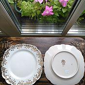 Винтаж ручной работы. Ярмарка Мастеров - ручная работа Редкий набор антикварных тарелок (9 штук, Германия, 1900-е). Handmade.