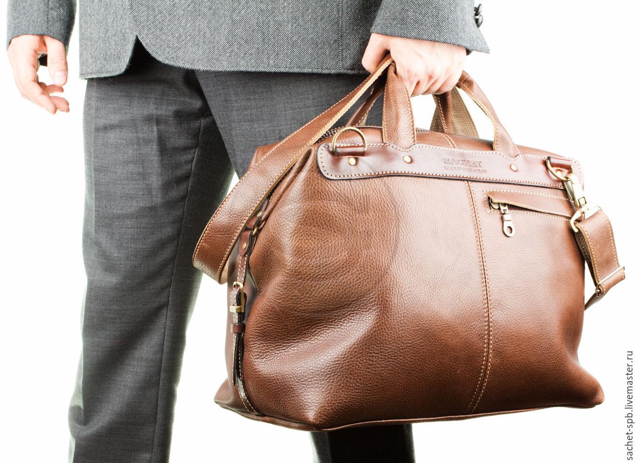 e36606c0bd78 Кожинка-САШЕ Мужские сумки ручной работы. Кожаная дорожная сумка