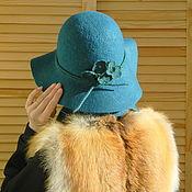 Аксессуары ручной работы. Ярмарка Мастеров - ручная работа Шляпа флоппи Морская волна Шляпа Валяная шляпа. Handmade.
