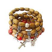 Украшения handmade. Livemaster - original item Wooden bracelet ethnic style. Handmade.