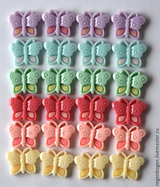 """Аппликации, вставки, отделка ручной работы. Ярмарка Мастеров - ручная работа. Купить Кабашон """"Бабочка"""". Handmade. Разноцветный, кабашоны, бабочка"""