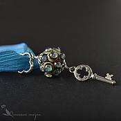 Украшения ручной работы. Ярмарка Мастеров - ручная работа Кулон Ключ Грибной дождь стекло лэмпворк. Handmade.