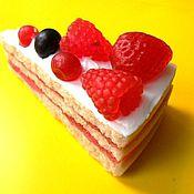 Мыло ручной работы. Ярмарка Мастеров - ручная работа Кусочек торта. Handmade.