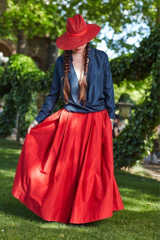 """Шляпы ручной работы. Ярмарка Мастеров - ручная работа. Купить Шляпа летняя """"Стефани """". Handmade. Шляпа, шляпа красная"""
