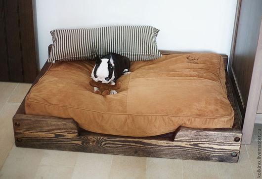 Мебель ручной работы. Ярмарка Мастеров - ручная работа. Купить Лежанка  для собаки. Handmade. Серый, состаренное дерево, тонирование