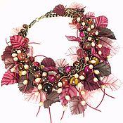 Украшения handmade. Livemaster - original item Beaujolais Festival. necklace made of natural stones. Handmade.