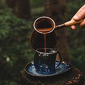 Посуда handmade. Livemaster - original item teacups: 200 ml mug and saucer. Handmade.