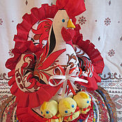 """Для дома и интерьера ручной работы. Ярмарка Мастеров - ручная работа Грелка(разные)на чайник""""Курица с цыплятами"""". Handmade."""