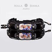 Украшения handmade. Livemaster - original item leather men`s bracelet sodalite inserts 925 silver men`s jewelry. Handmade.