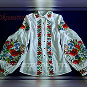Одежда handmade. Livemaster - original item Women`s embroidered shirt