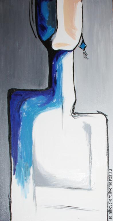 Абстракция ручной работы. Ярмарка Мастеров - ручная работа. Купить Одиночество (холст, масло). Handmade. Серый, абстракция, современное искусство