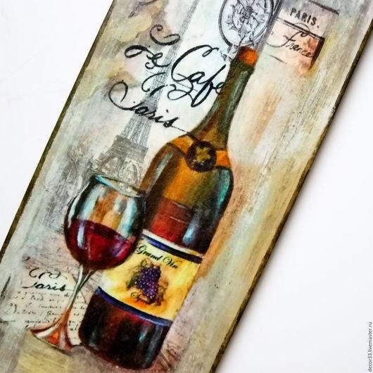 Натюрморт ручной работы. Ярмарка Мастеров - ручная работа. Купить Панно Глоток вина. Handmade. Комбинированный, картина, подарок дачникам