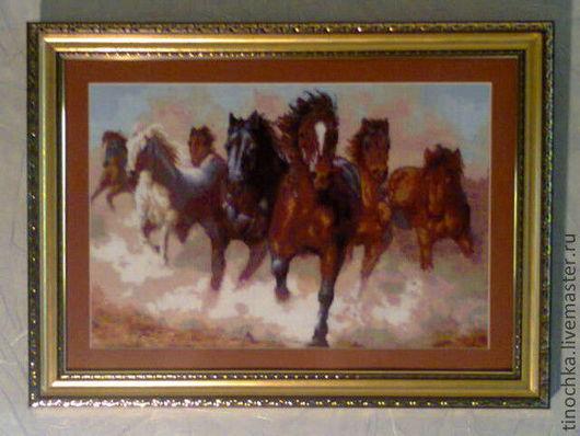Животные ручной работы. Ярмарка Мастеров - ручная работа. Купить бегущие лошади. Handmade. Лошади символ 2014г