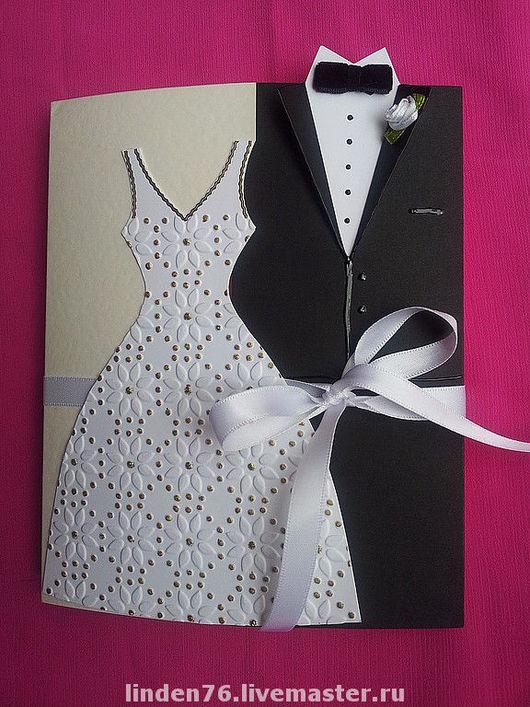Свадебные открытки ручной работы. Ярмарка Мастеров - ручная работа. Купить Свадебная открытка. Handmade. Свадьба, картон