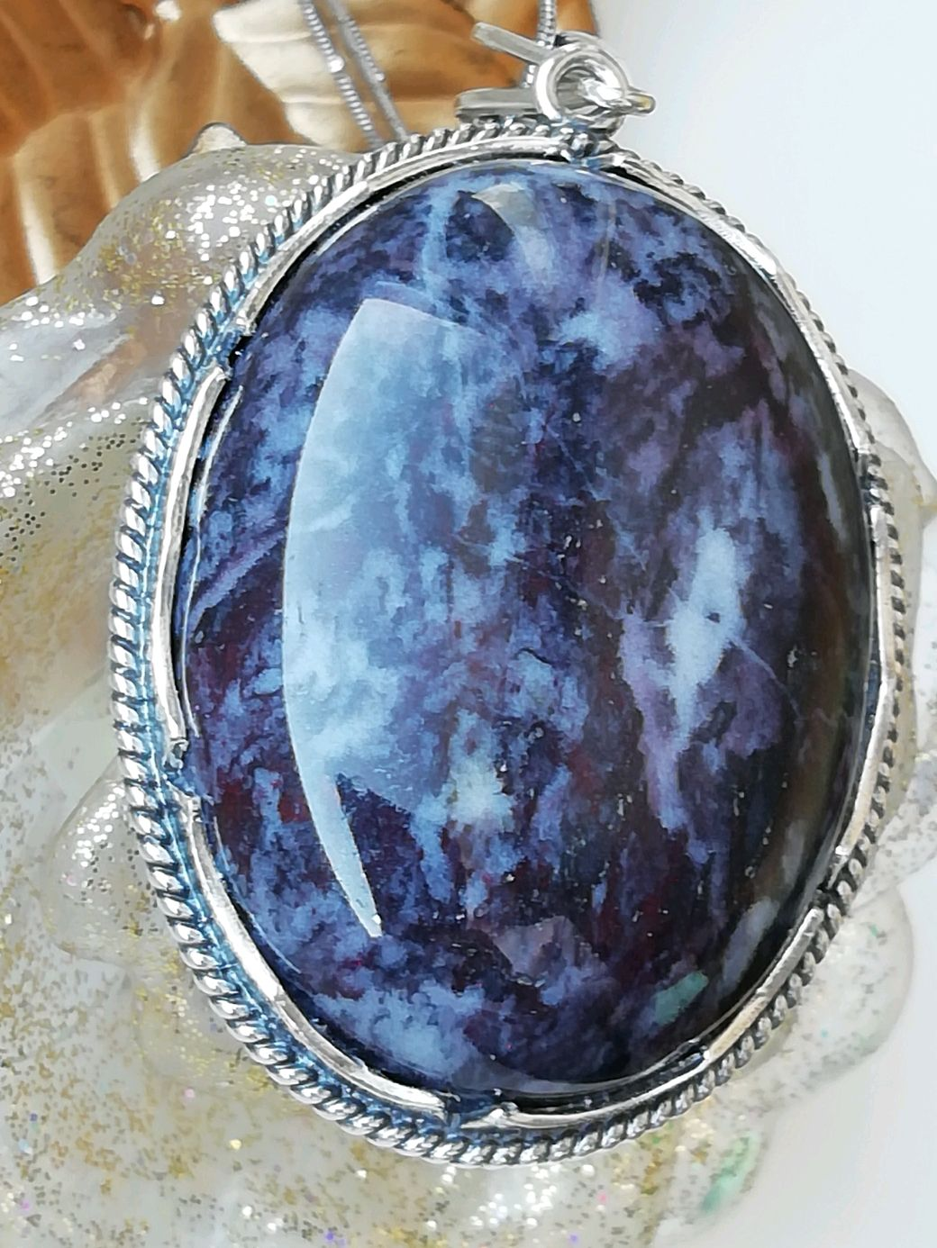 Pendant with natural African heliotrope ' GALAXY', Pendant, Moscow,  Фото №1