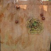 """Сумка-шоппер ручной работы. Ярмарка Мастеров - ручная работа Экосумка """"Сплетенье"""", окрашена южными растениями и морем. Handmade."""