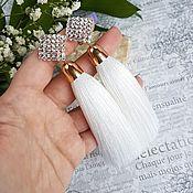 Украшения ручной работы. Ярмарка Мастеров - ручная работа Серьги кисти белые. Handmade.