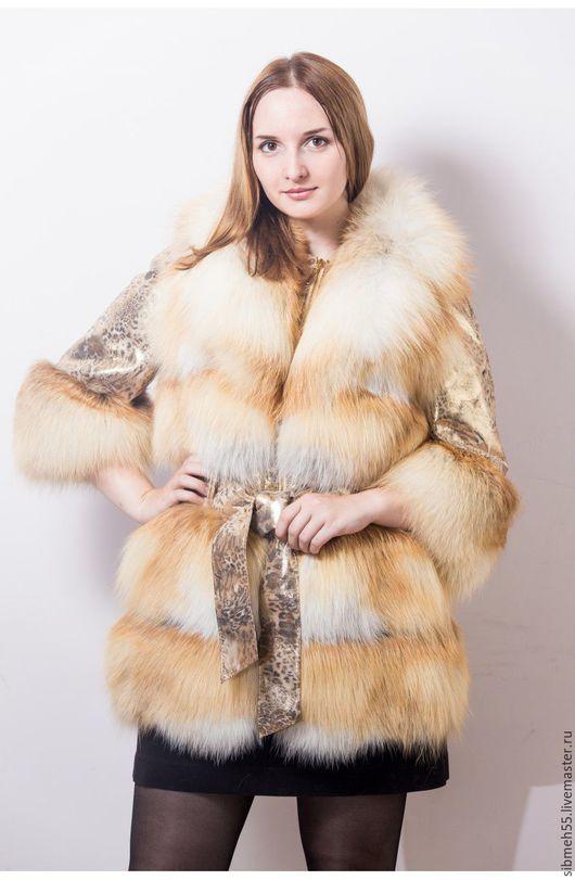 """Верхняя одежда ручной работы. Ярмарка Мастеров - ручная работа. Купить Меховая куртка """"Леди"""". Handmade. Рыжий, мех натуральный"""