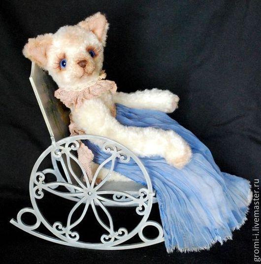Мишки Тедди ручной работы. Ярмарка Мастеров - ручная работа. Купить Кошка Шарлотта. Handmade. Белый, кот в подарок, подарок