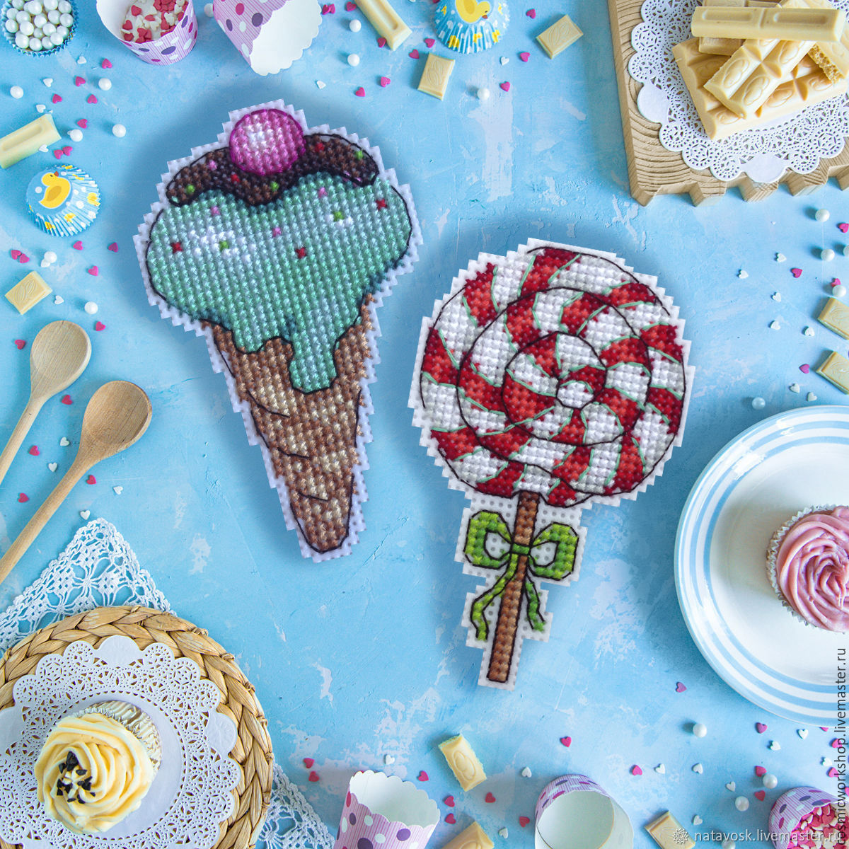 Cross stitch Sweets, Magnets, Rostov-on-Don,  Фото №1