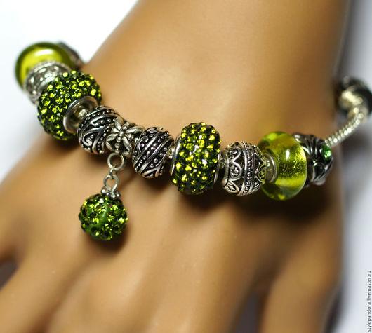`Лайм`  Модульный браслет Все шармы на браслете можно приобрести отдельно и создать свой собственный браслет