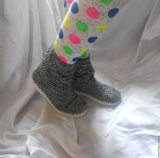 Обувь ручной работы. Ярмарка Мастеров - ручная работа. Купить Сапожки. Handmade. Серебряный, сапоги на заказ