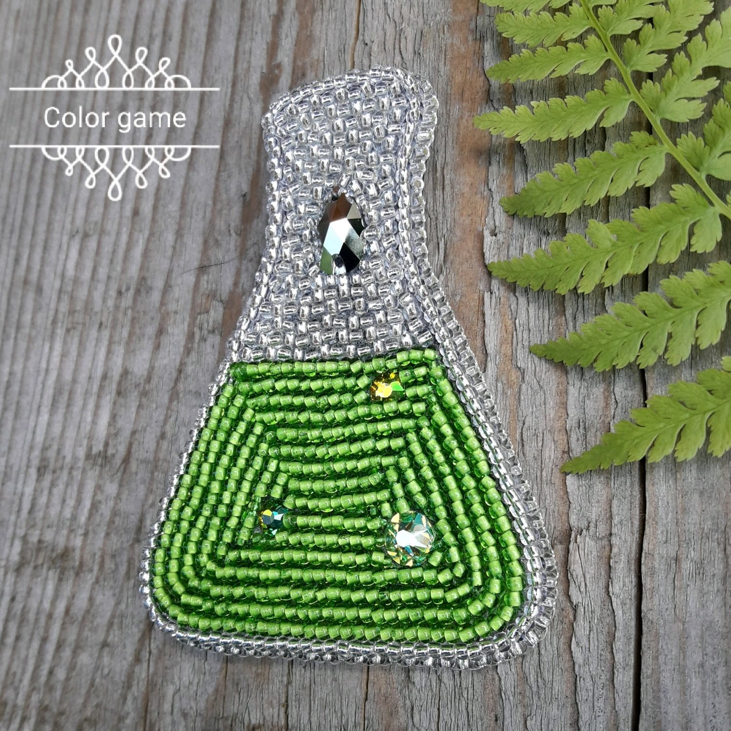 Brooch 'Magic potion' embroidery beading, Brooches, Moscow,  Фото №1