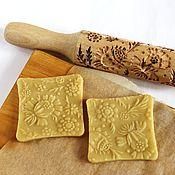 Для дома и интерьера ручной работы. Ярмарка Мастеров - ручная работа Скалка для печенья пряничная скалка цветы. Handmade.