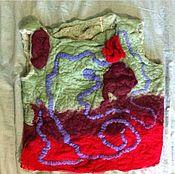 Одежда ручной работы. Ярмарка Мастеров - ручная работа Жилетка из валяной шерсти. Handmade.
