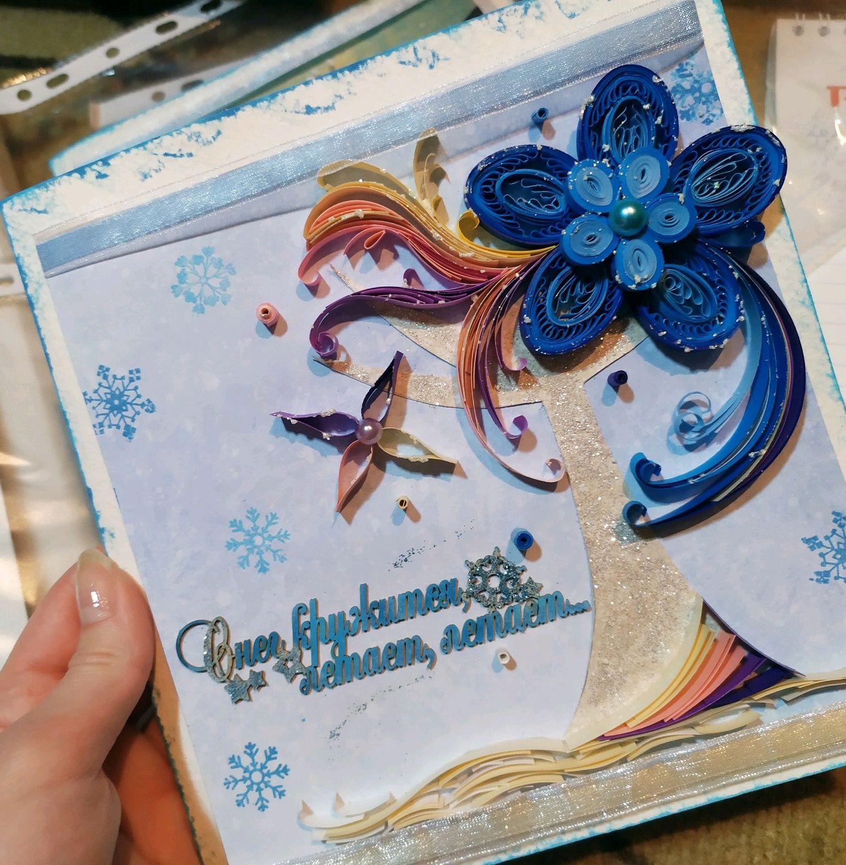 Открытка ручной работы в технике квиллинг, Открытки, Ачинск,  Фото №1