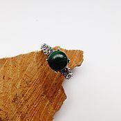 Украшения handmade. Livemaster - original item Ring with malachite emerald mysterious forest 18.5 R-R. Handmade.