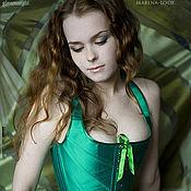 Одежда handmade. Livemaster - original item Green corset push-up. Handmade.