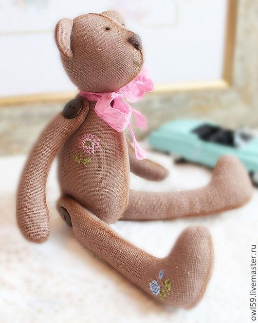 """Игрушки животные, ручной работы. Ярмарка Мастеров - ручная работа. Купить текстильная игрушка в винтажном стиле """"Миша"""". Handmade."""