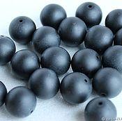 Beads1 handmade. Livemaster - original item Shungite smooth ball4mm (136). Handmade.