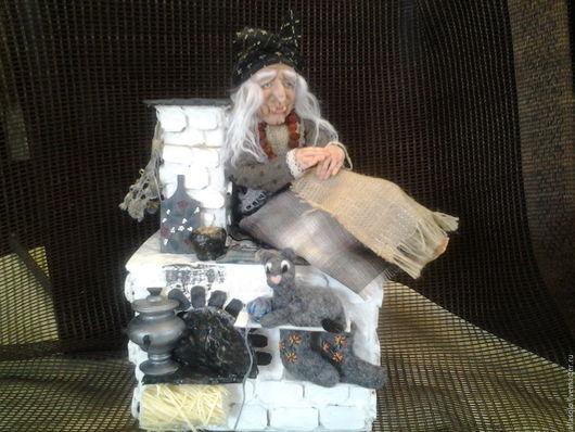 """Коллекционные куклы ручной работы. Ярмарка Мастеров - ручная работа. Купить Баба Яга ,,Хранительница домашнего очага."""". Handmade."""