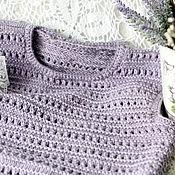 """Одежда ручной работы. Ярмарка Мастеров - ручная работа Жилет """"Лавандовые сны""""жилет ручной работы жилет на спицах. Handmade."""