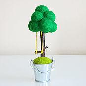 Для дома и интерьера ручной работы. Ярмарка Мастеров - ручная работа Дерево счастья - декоративная композиция из шерсти. Handmade.