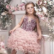 """Платье ручной работы. Ярмарка Мастеров - ручная работа Нарядное платье для девочки """"Шик"""". Handmade."""