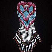 """Украшения ручной работы. Ярмарка Мастеров - ручная работа Подвеска из бисера """"Love"""". Handmade."""