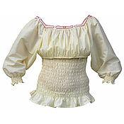Русский стиль ручной работы. Ярмарка Мастеров - ручная работа Блуза для кормления со смысловым орнаментом. Handmade.
