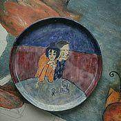 Тарелки ручной работы. Ярмарка Мастеров - ручная работа Тарелка керамическая. Handmade.