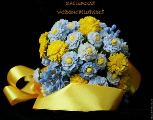 Свадебные цветы ручной работы. Ярмарка Мастеров - ручная работа. Купить Букет Свадебный - Настроение. Handmade. Желтый, свадебный аксессуар