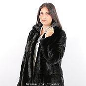 Одежда ручной работы. Ярмарка Мастеров - ручная работа Шуба из норки 70 см цвет черный. Handmade.