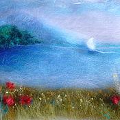 """Картины и панно ручной работы. Ярмарка Мастеров - ручная работа """"Отпуск"""" картина из шерсти. Handmade."""