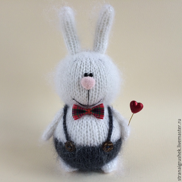 Animal Toys handmade. Livemaster - handmade. Buy Bunny Valentine.Hare, author toy, buttons