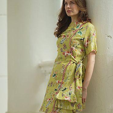 """Одежда ручной работы. Ярмарка Мастеров - ручная работа Платье """"Фламинго"""". Handmade."""