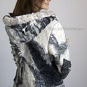 """Одежда ручной работы. Ярмарка Мастеров - ручная работа Пальто """"Черно-белая Вселенная"""". Handmade."""