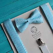 Аксессуары handmade. Livemaster - original item Tie suspenders polka dot Extravaganza / mint butterfly tie. Handmade.