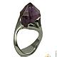 природный аметист кольцо, фиолетовый камень, фиолетовый камень кольцо, камень фиолетового цвета, кольцо сиреневый камень, сиреневый камень, камень  сиреневого цвета, jewelart, красивый аметист